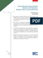 Primer Plan Nacional de Cambio Climático de El Salvador