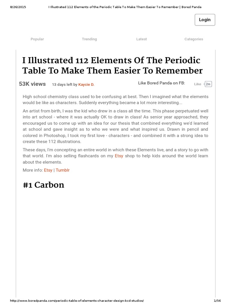 I illustrated 112 elements of the periodic table to make them i illustrated 112 elements of the periodic table to make them easier to remember bored pandapdf periodic table aluminium gamestrikefo Image collections