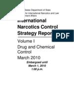 Reporte anual sobre narcóticos del Departamento de Estado. Volumen I