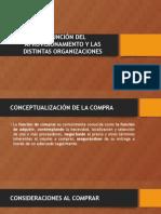 La Función Del Aprovisionamiento y Las Distintas Organizaciones