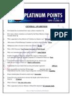 Platinum Points for IBPS Clerk-IV