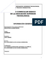 Plan Curricular Para El Tecnologico