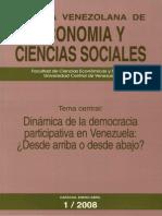 Enero Abril 1 2008 Dinamica de La Democracia Participativa en Venezuela
