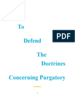 how to defend the doctrines concering purgatory
