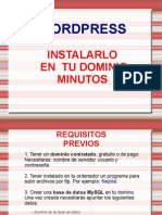 Manual Instalacion Wordpress