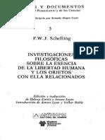 Schelling F W J Investigaciones Filosoficas Sobre La Esencia de La Libertad Humana y Los Objetos Con Ella Relacionados