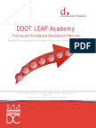 DC DDOT LEAP Training Matrices
