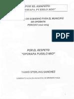 Programa de Gobierno 2012 - 2015 propuesto por el Sr. Yamid Sterling Sánchez