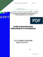 Guide d'Organisation Pédagogique Et Matérielle BTP-TSCT