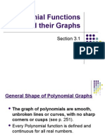 3.1 Graphs of Polynomial Functions (1)