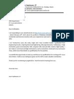 Application Letter PT. Isuzu Astra Motor