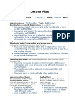 prac lesson plan primary mathematics