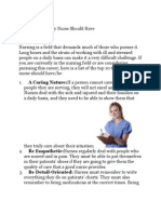 Top 10 Traits Every Nurse Should Have
