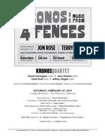 Kronos Quartet Set List -- 02/27/10 Artaud