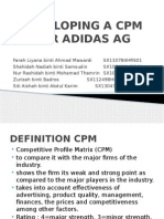 g. Assignment -Developing a Cpm for Adidas Ag