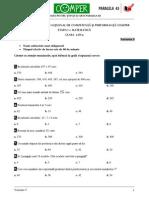 Matematica Clasa III Varianta5