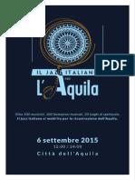 Programma Libretto Maratona Del Jazz L'Aquila 6 settembre 2015