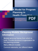 Models for Program Planning in Health Promotion OK