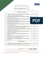 Final Year Java IEEE 2015-16 Domainwise