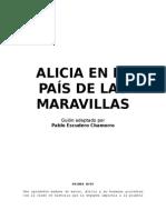 Guión Alicia en El País de Las Maravillas