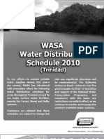 WASA 2010 Water Distribution Schedule (Trinidad)