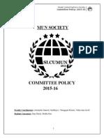MUN Society Policy