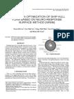 A STUDY ON OPTIMIZATION OF SHIP HULL FORM BASED ON NEURO-RESPONSE SURFACE METHOD (NRSM)