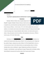 response to motion to dismiss portfolio
