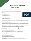 Physics Notes Class 11 CHAPTER 8 GRAVITATION (1).pdf