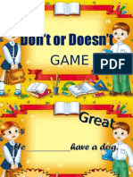 Dont or Doesnt Game Ppt