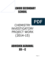 Chemistry Investigatory Project Class12