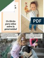 Un Librito Para Niños Sobre La Generosidad - A Little Children's Book About Giving