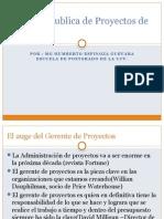 Gestión Publica de Proyectos de Inversión