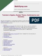 Mathematical Olympiad Math Olympiad Tutorials