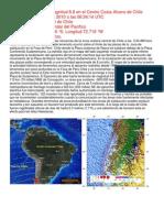 Magnitud 8.8 Chile