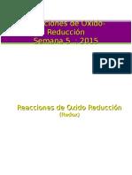 5 Reacciones de Oxido Reduccion 2015