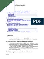 La Estadistica en La Investigacion y Las Escalas de Medicion