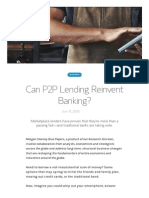 Can P2P Lending Reinvent Banking