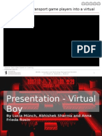 Failure of Virtual boy