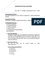 Organizational Structure and Design - Copy