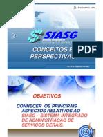 SIASG - Conceitos e Perspectivas - Prof Diógenes