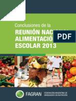 Alimentación Escolar 2013. Conclusiones