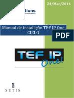 TEF IP One CIELO - Manual de Instalação - 140324