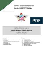 NT 01-2010 - Procedimentos Administrativos, Parte 3 - Vistoria