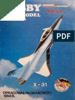 Hobby Model 020 - X-31