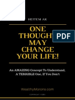 One Thought May Change Your Life