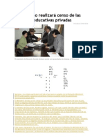 Censo de Las Unidades Educativas Privadas