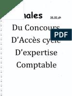 Les annales concours d_accès au cycle d_expertise comptable.pdf