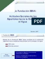 Actitudes Sociales de los Españoles hacia la Energía y el Agua