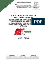 Plan de Contingencia Concentrado de Cobre Mc Transportes.